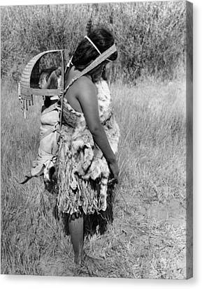 Native American Mother And Baby Canvas Print by Underwood Archives Onia