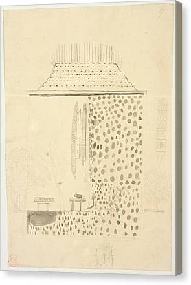 Native Building Canvas Print by British Library
