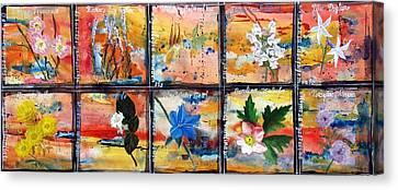 native Texas wildflowers B Canvas Print by Michael Dillon