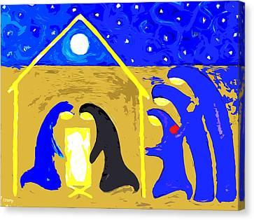 Nativity 2 Canvas Print by Patrick J Murphy