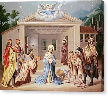 Nativity Canvas Print by American School