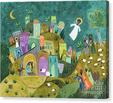 Nativity Three Canvas Print by Kate Cosgrove