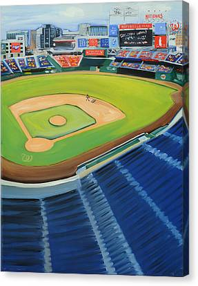Nats Ballpark Canvas Print by Anne Lewis