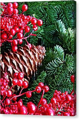 Natural Christmas 2 Canvas Print by Sarah Loft