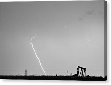 Nature - Power And Oil In Black And White Canvas Print by James BO  Insogna