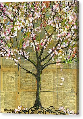 Nature Art Landscape - Lexicon Tree Canvas Print by Blenda Studio