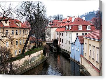 Nature In Prague Canvas Print by John Rizzuto