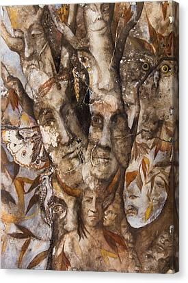 Nature Spirits Tree Canvas Print by Patricia Allingham Carlson