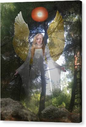Rocks Canvas Print featuring the photograph Nature's Angel by Eric Kempson