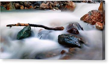 Natures Balance - White Water Rapids Canvas Print by Steven Milner