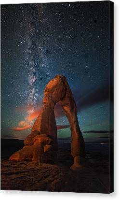 Nature's Delicate Balance Canvas Print by Mike Berenson