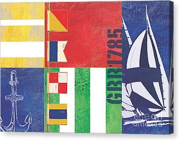 Nautical Flair I Canvas Print by Paul Brent
