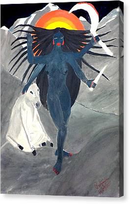Nava Durga Kaalraatri Canvas Print by Pratyasha Nithin