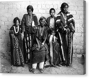 Navajo Family, C1901 Canvas Print by Granger