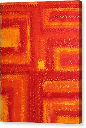 Navajo Rug Original Painting Canvas Print by Sol Luckman