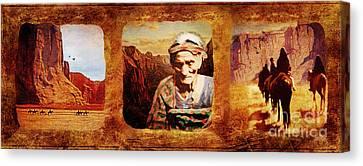 Navajo Triptych  Canvas Print by Lianne Schneider