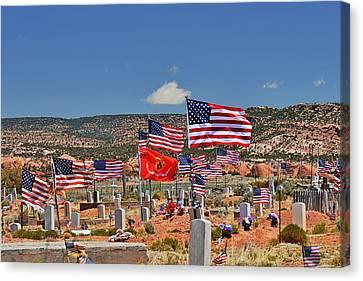 Navajo Veteran's Memorial Cemetery Tsehootsooi Canvas Print by Christine Till