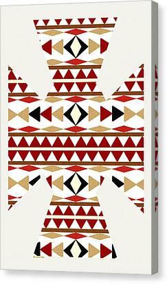Navajo White Pattern Art Canvas Print by Christina Rollo