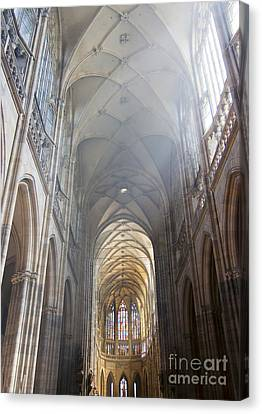 Nave Of The Cathedral Canvas Print by Michal Boubin