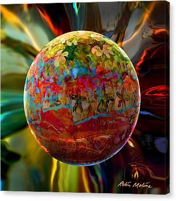 Na'vi Sphere Canvas Print by Robin Moline
