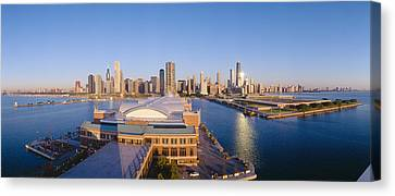 Navy Pier, Chicago, Morning, Illinois Canvas Print by Panoramic Images