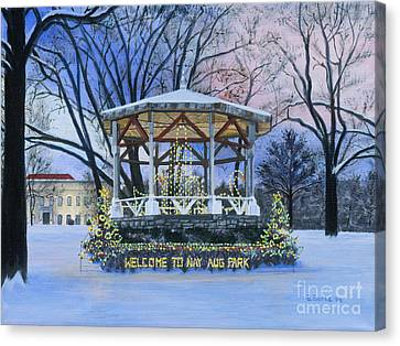 Nay Aug Park Holiday Lights Canvas Print by Austin Burke