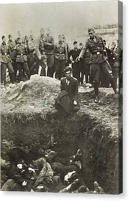 Nazi Police And Wehrmacht Soldiers Canvas Print by Everett