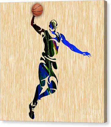 Nba Basketball  Canvas Print by Marvin Blaine