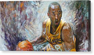 Nba Lakers Kobe Black Mamba Canvas Print by Ylli Haruni