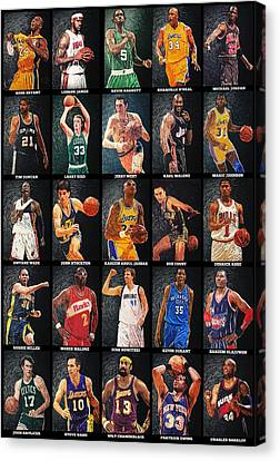 Nba Legends Canvas Print by Taylan Apukovska