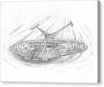 Ncc-1701-j Enterprise Canvas Print by Michael Penny
