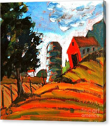 Near Flint Ridge Ohio At Brownsville Canvas Print by Charlie Spear