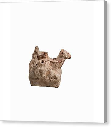 Nebatean Terracotta Vessel Canvas Print by Science Photo Library