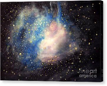 Nebula Ngc 346 Canvas Print by Allison Ashton