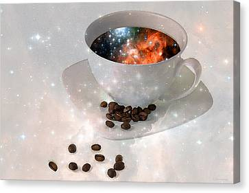 Nectar From Heaven - Coffee Art By Sharon Cummings Canvas Print by Sharon Cummings
