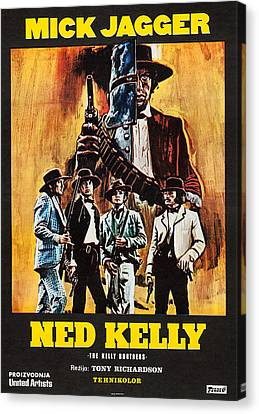 Mick Jagger Poster Canvas Print featuring the photograph Ned Kelly, Czech Poster Art, Mick by Everett