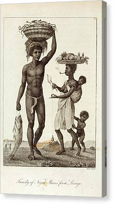 Negro Slaves Canvas Print by British Library
