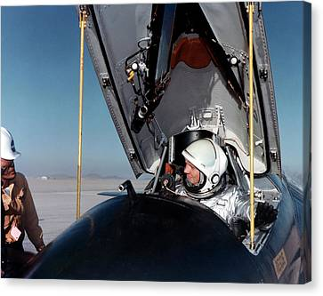 Neil Armstrong As X-15 Test Pilot Canvas Print by Nasa