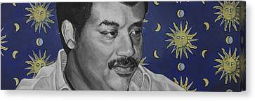 Neil Degrasse Tyson Canvas Print by Simon Kregar