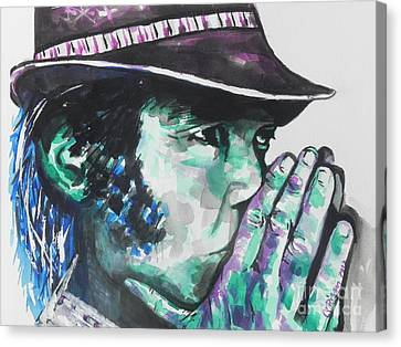 Neil Young Canvas Print by Chrisann Ellis