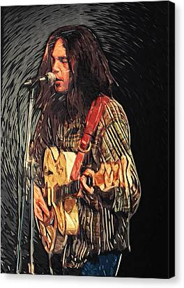 Neil Young Canvas Print by Taylan Soyturk