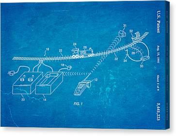 Neil Young Train Control Patent Art 1995 Blueprint Canvas Print by Ian Monk