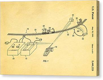 Neil Young Train Control Patent Art 1995 Canvas Print by Ian Monk