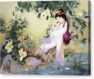 Nemuri No Otome Canvas Print by Haruyo Morita