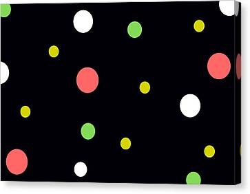 Neon Circles Canvas Print by Chastity Hoff