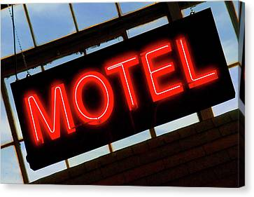 Neon Motel Sign Canvas Print by Mike McGlothlen