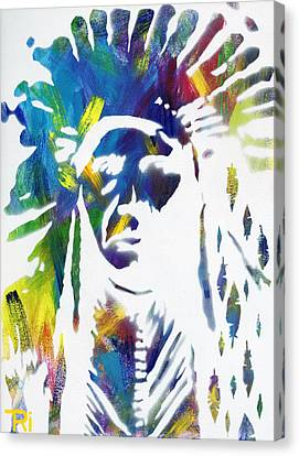 Neon Native Canvas Print by Tori Tunget