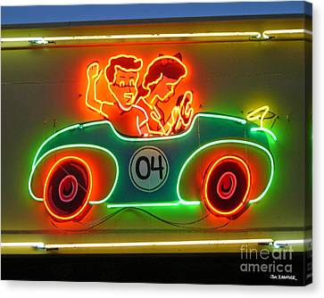 Neon Sign Kennywood Park Canvas Print by Jim Zahniser