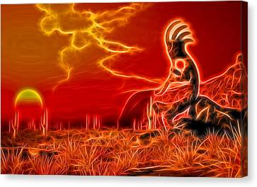 Neon Southwest Canvas Print by Daniel Eskridge