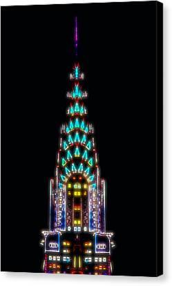Neon Spires Canvas Print by Az Jackson